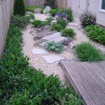 Jardin japonais en longeur de cour