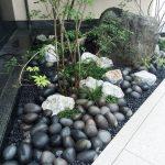 Jardin japonais en simple triangle pour un esprit calme et serein