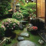 Pierre et vegetation pour ce jardin japonais
