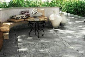 Carrelage terrasse porcelaine marbre